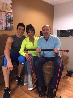 Adam Gregory, Marie Osmond & Dan Wheeler at QVC with the Body Gym