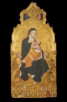 """Giovanni di Paolo - """"Madonna col Bambino e due angeli"""" - 1445 ca. - Castiglione d'Orcia, Sala d'Arte San Giovanni"""