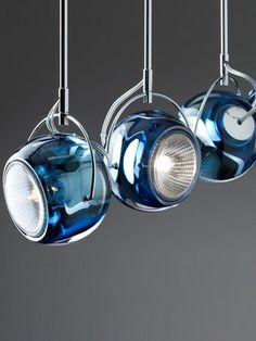 LED halogen chrome track-light BELUGA COLOUR by @Fabbian | #design Marc Sadler