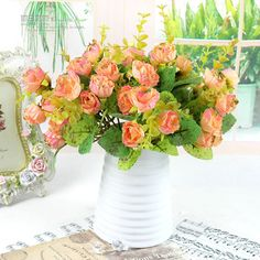 Aliexpress.com : Buy 420 heads 20pcs/lot NEW fashion elegant golden rose small high quality artificial flowers 4 color home wedding real touch deco  from Reliable silk orchid suppliers on Lore 's Decoration Flowers Store. $46.99