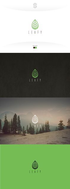 Simple elegant luxury logo outline leaf with a diamond form.