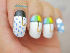 Rainy Day Umbrella Nail Wrap 2 | chichicho~ nail art addicts