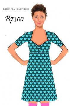 Dress Lola Hearts Blue