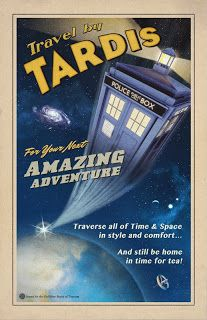 TARDIS travel poster by Joshua Graham