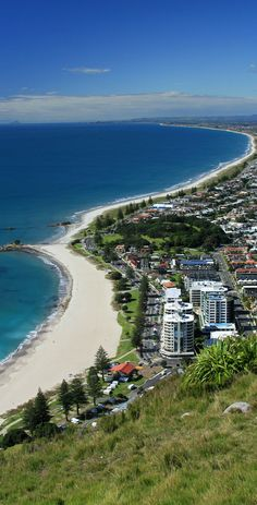 Mount Maunganui. Have walked up the mountain many times, the beach is very beautiful around this area.