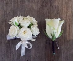 white rose corsages