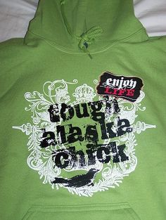 "Green ""Tough Alaska Chick"" Hooded Sweatshirt"