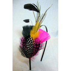 NEW Colorful Feather Fascinator Headband $9.99. A cute accessory for the wedding :-)
