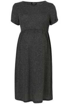 Maternity dress with rolled sleeves