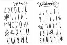 Creative Lettering, Cool Lettering, Brush Lettering, Lettering Design, Lettering Styles, Hand Lettering Alphabet, Calligraphy Alphabet, Calligraphy Fonts, Bullet Journal Ideas Pages
