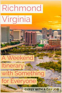 Richmond, Virginia may not be a name you think of when looking for travel destinations, but our 3 day Richmond, VA itinerary will change your mind.  Richmond has history, adventure, scenery, and good food.  A weekend in Richmond, VA has something for everyone.  You will love the things to do in Richmond, VA, and want to plan your 3 days in Richmond soon!  #richmondva #richmond #virginia #virginiatravel #ustravel Usa Travel Guide, Travel Usa, Travel Guides, Travel Tips, Amazing Destinations, Travel Destinations, Richmond Virginia, United States Travel, California Travel
