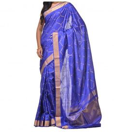 Blue Pure Handloom Uppada Silk Saree