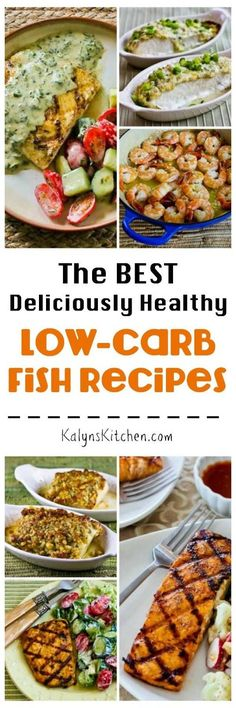 We should all be eating more fish, right? So here are The BEST Deliciously Healthy Low-Carb Fish and Seafood Recipes from KalynsKitchen.com. Enjoy!