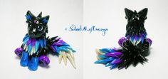 Black Blue and Purple Fantasy Wolf Pup by SweetMayDreams on DeviantArt