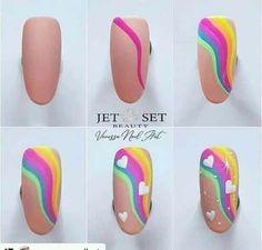 Nail Art Designs Videos, Cute Nail Art Designs, Pink Nail Designs, Nail Art Diy, Diy Nails, Nail Drawing, Unicorn Nails, Rose Nails, Nail Polish Art