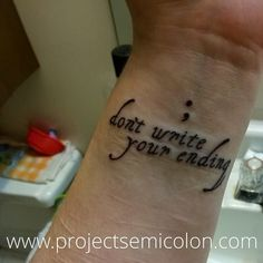 depression, self harm and suicide awareness tattoo – piercings Little Tattoos, Small Tattoos, Tattoos For Guys, Sweet Tattoos, Unique Tattoos, Meaning Of Arrow Tattoo, Tattoos With Meaning, Semicolon Tattoo Meaning, Scar Tattoo