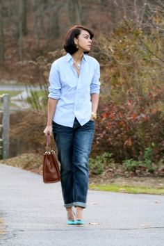 2010 topshop jeans, something Bleu satin pumps,