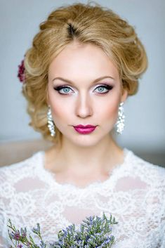 makeup ideas for wedding bride with rose lips and eyeshadows iconbride via instagram