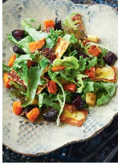 haloumi salad w/ roast vegies