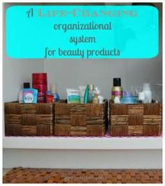 a revolutionary organizational system for your bath and beauty supplies