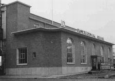 tation Rotterdam Blaak stationsgebouw I (1953) Nieuw eenvoudig ontvangstgebouwtje voor het verwoeste station Beurs.