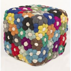 Crochet inspiration ~ (Handmade Indian Wool Pouf | Overstock.com Shopping - Great Deals on Ottomans)