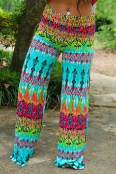 Pants: palazzo pants, hippie, boho, summer pants, colorful, print ...