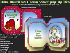 How Much Do I Love You? pop-up Kit