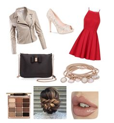 Date night on fleek by eastriebs on Polyvore featuring polyvore, fashion, style, Chi Chi, Sans Souci, Lauren Lorraine, Ted Baker, Marjana von Berlepsch, Stila and clothing