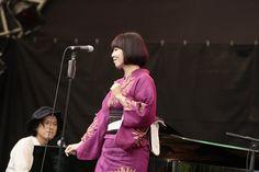 土岐麻子さんのステージ写真です!浴衣が素敵! #slwlv16