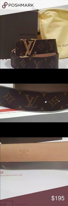 LV leather belt Trendy LV leather authentic belt Louis Vuitton Accessories Belts