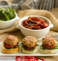 It was time for something savory...and these Turkey Sliders with Roasted Tomatoes were perfect. #WeekdaySupper