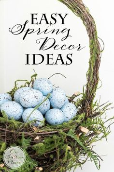 Easy DIY Easter Spring Decor Ideas |Tips for using what you have but in new ways from onsuttonplace.com #bHomeApp