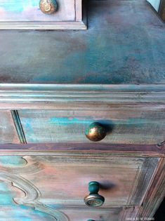 Bohemian Painted Dresser Hand Painted Dresser Rustic #ad