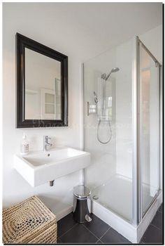 barok spiegel zwart zilveren lijst in badkamer   badkamer spiegel, Hause deko