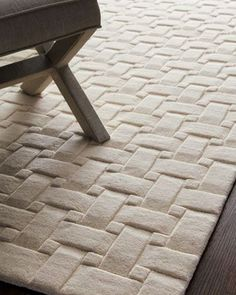 "Although this seems like a pain to clean, this rug intrigues me. ""Woven Textures"" Rug, 5' x 8' at Horchow."