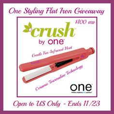 Ceramic Tourmaline Infrared Flat Iron Review and Giveaway ends 11/23
