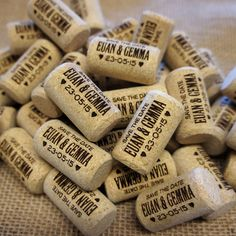 Wedding Save the Date Corks