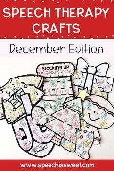 December Speech Therapy Crafts for Kids: These speech therapy crafts will make your speech sessions fun! The December Edition features various crafts for Christmas, Hanukkah, gingerbread, and penguins! These crafts are great for mixed groups as you can target various speech therapy goals. | Speech is Sweet Speech Language Therapy, Speech Therapy Activities, Speech And Language, Christmas Speech Therapy, Irregular Past Tense, Best Speeches, Apraxia, Christmas Hanukkah, Therapy Ideas