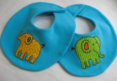 "This free sewing pattern is for the ""Elephant Walk Bib and Burp Cloth"".  What a great present this will make!"
