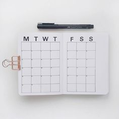 Minimalistic Bullet Journal   Monthly view   A6 Bullet Journal