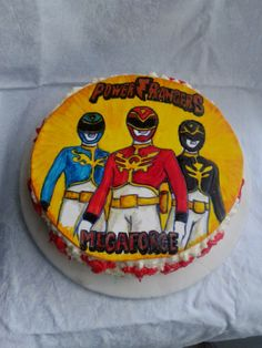 Risultati immagini per torta power ranger panna Power Ranger Cake, Power Ranger Party, Power Ranger Birthday, 4th Birthday Parties, Birthday Cake, Birthday Ideas, Power Rangers Megaforce, Power Rangers Dino, Cake Cookies