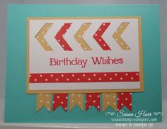 New Chevron Border Punch, Four You, SUO, Stampin Up, susanstamps.wordpress.com