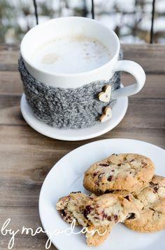 Cookies mit Cranberries Tea Cups, Cookies, Cranberries, Tableware, Blog, Coaster, Crochet, Accessories, Knitting And Crocheting