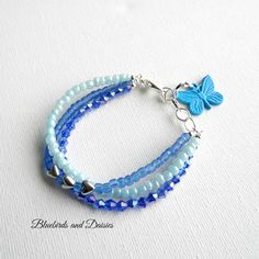 Shades of blue bracelet
