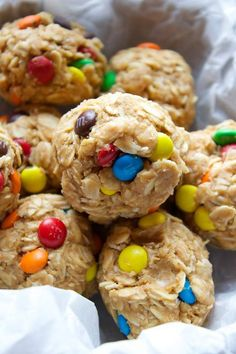 Our kiddos go wild over these No Bake Energy Balls. Pretty sure it might have a little something to do with the M&M's...
