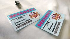 """Introducing my new laminated ID Badges. These designs are inspired by the hit indie video game """"Five Nights at Freddy's"""" which is set around 1993. These designs are meant t... #snowbunnystudios #handmade #cosplay #costuming #cute #collectable #cutecollectablecosplay #shopsteam #fnaf #costume #horror #accessory #freddy's"""