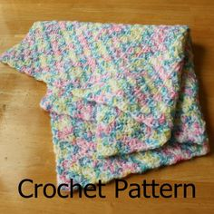Crochet baby blanket pattern Simple shell pattern easy