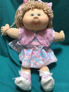 VINTAGE 1978 -1982 BLONDE CABBAGE PATCH KIDS DOLL GIRL GREEN EYES  | eBay
