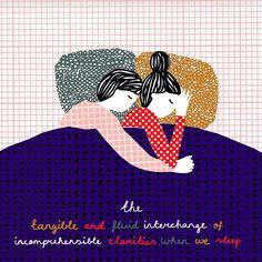 Manon de Jong - 'The tangible and fluid interchange of incomprehensible clarities when we sleep' - Nikos Stangos #illustration #illustratie #drawing #collage #design #pattern